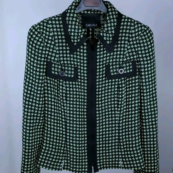 Carlisle Jackets & Blazers - Carlisle 2 Blazer Zip Up Black Green